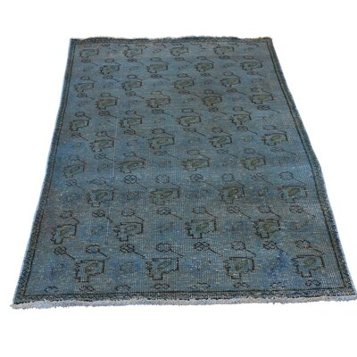 One-of-a-Kind Laursen Overdyed Shea Low Hand-Knotted Area Rug