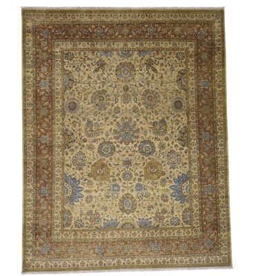 One-of-a-Kind Saltzman 300 Kpsi Oriental Hand-Knotted Area Rug