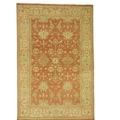 One-of-a-Kind Betton Knot Oushak Burnt Oriental Hand-Knotted Area Rug