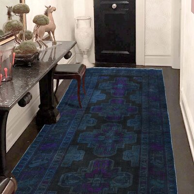 One-of-a-Kind Greenawalt Vintage Overdyed Hamadan Hand-Knotted Area Rug