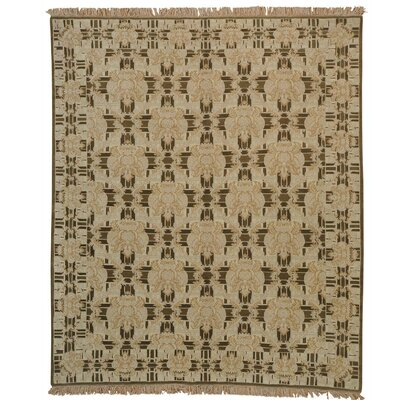 Neo Classic Tibetan Oriental Hand-Knotted Brown Area Rug