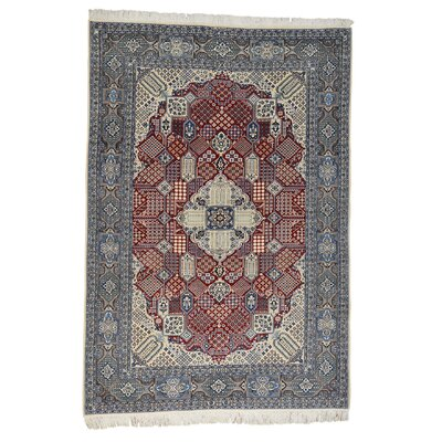 One-of-a-Kind Lear Nain 300 Kpsi Oriental Hand-Knotted Silk Area Rug