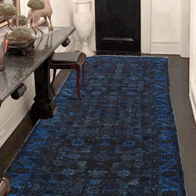 One-of-a-Kind Lear Vintage Overdyed Hamadan Hand-Knotted Area Rug