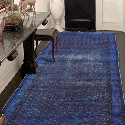 One-of-a-Kind Greenawalt Vintage Overdyed Sarouk Mir Hand-Knotted Area Rug