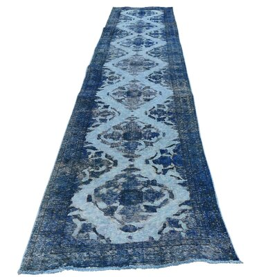One-of-a-Kind Kendrick Overdyed Qashqai Worn Oriental Hand-Knotted Area Rug