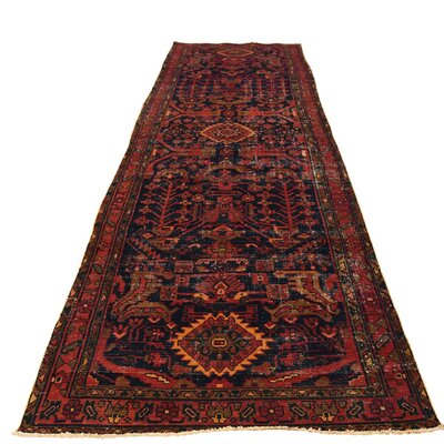 One-of-a-Kind Kendrick Overdyed Malayer Worn Oriental Hand-Knotted Area Rug