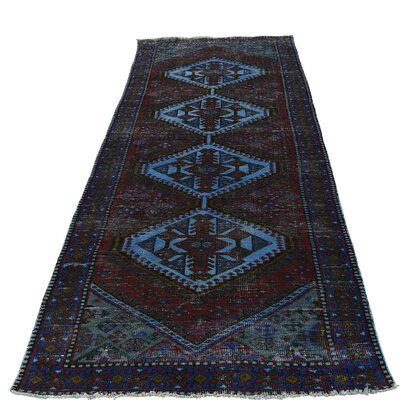 One-of-a-Kind Govan Overdyed Qashqai Worn Oriental Hand-Knotted Area Rug