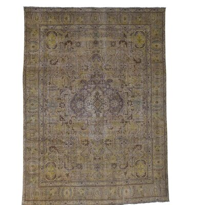 One-of-a-Kind Saltzman Vintage Low Oriental Hand-Knotted Area Rug