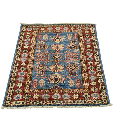 One-of-a-Kind Tillotson Super Geometric Hand-Knotted Area Rug