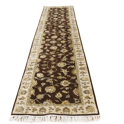 Rajasthan Hand-Knotted Silk Brown Area Rug