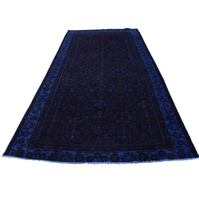 One-of-a-Kind Grasmere Overdyed Birjand Hand-Knotted Blue Area Rug