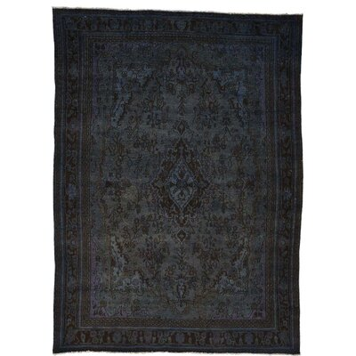 One-of-a-Kind Govan Overdyed Bibikabad Worn Hand-Knotted Area Rug