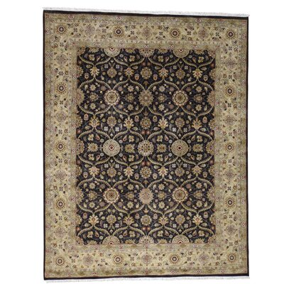 300 KPSI Hereke Hand-Knotted Silk Black Area Rug