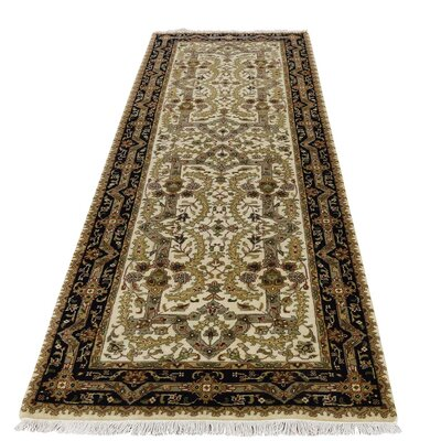 One-of-a-Kind Saltzman 300 Kpsi Hand-Knotted Silk Area Rug