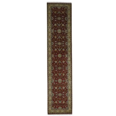 Hereke 300 KPSI Hand-Knotted Silk Red Area Rug