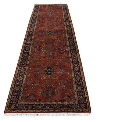 New Zealand 300 KPSI Sarouk Hand-Knotted Red Area Rug