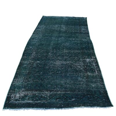 One-of-a-Kind Greenawalt Overdyed Worn Hand-Knotted Area Rug