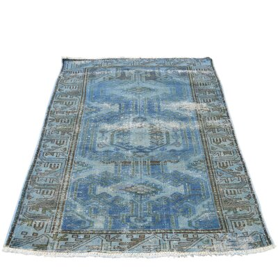 One-of-a-Kind Ebert Overdyed Malayer Worn Oriental Hand-Knotted Area Rug