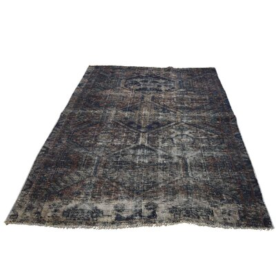 One-of-a-Kind Edford Overdyed Village Oriental Hand-Knotted Area Rug