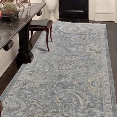 One-of-a-Kind Kennard Oidized Influence Hand-Knotted Silk Area Rug