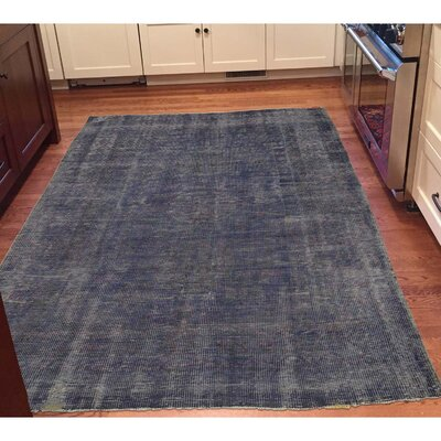 One-of-a-Kind Kenilworth Vintage Overdyed Khotan Hand-Knotted Area Rug