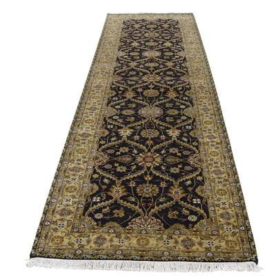 Hereke 300 KPSI Hand-Knotted Silk Black Area Rug