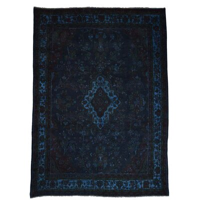 One-of-a-Kind Govan Vintage Overdyed Lilahan Oriental Hand-Knotted Area Rug