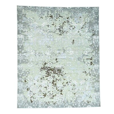 One-of-a-Kind Eastvale Oidized High and Low Hand-Knotted Silk Area Rug