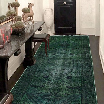 One-of-a-Kind Kenilworth Overdyed Malayer Hand-Knotted Area Rug