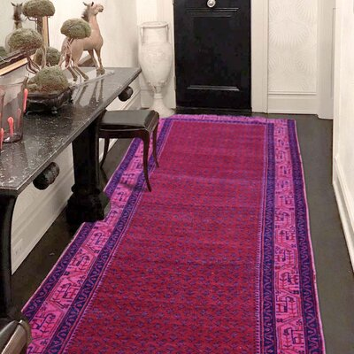 One-of-a-Kind MaryLou Vintage Overdyed Sarouk Mir Hand-Knotted Area Rug