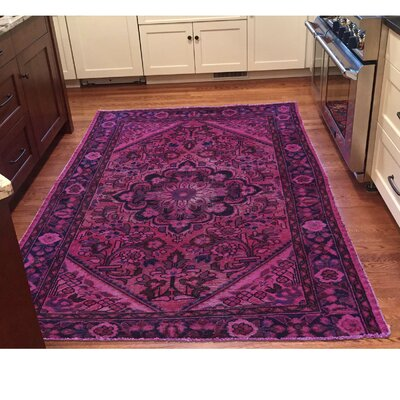 One-of-a-Kind MaryLou Vintage Overdyed Lilahan Hand-Knotted Area Rug
