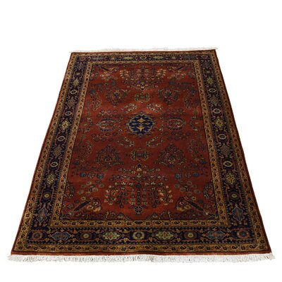 New Zealand 300 KPSI Sarouk Oriental Hand-Knotted Red Area Rug