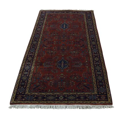 New Zealand Sarouk Oriental Hand-Knotted Red Area Rug