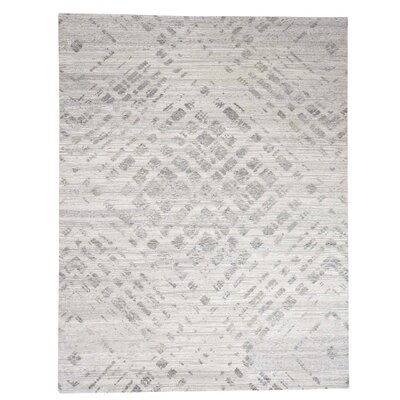 One-of-a-Kind Woodmansee Undyed Natural Oriental Hand-Knotted Area Rug