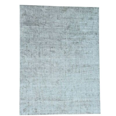 Roman Mosaic Oidized Hand-Knotted Silk Gray Area Rug