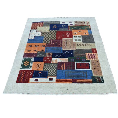 One-of-a-Kind Rossman Oriental Hand-Knotted Wool Multicolored Area Rug