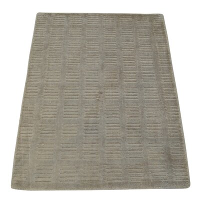 One-of-a-Kind Woodmansee Oriental Tone on Tone Hand-Knotted Silk Area Rug