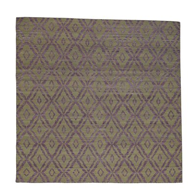 Reversible Kilim Flat Weave Oriental Hand-Knotted Brown Area Rug