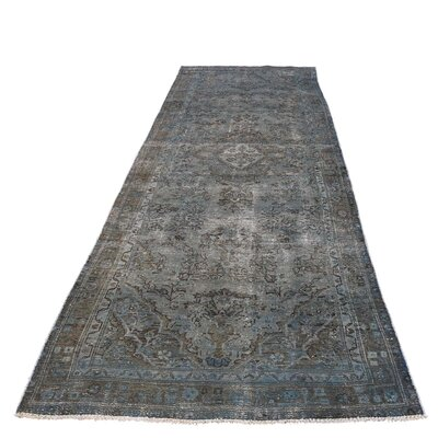 One-of-a-Kind Edford Overdyed Bibikabad Worn Hand-Knotted Area Rug