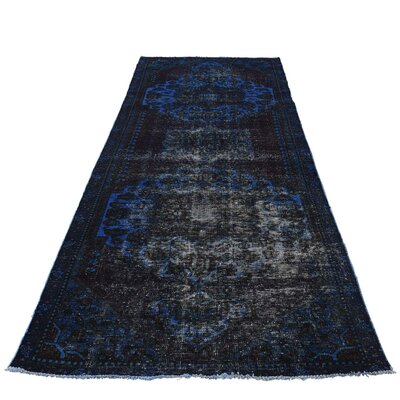 One-of-a-Kind Lear Overdyed Worn Hand-Knotted Area Rug
