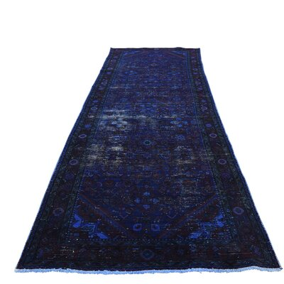 One-of-a-Kind Greenawalt Overdyed Bibikabad Worn Hand-Knotted Area Rug