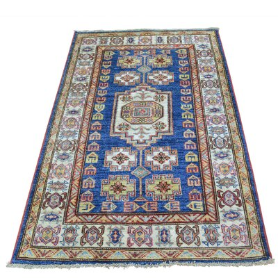 One-of-a-Kind Tillman Super Geometric Hand-Knotted Area Rug