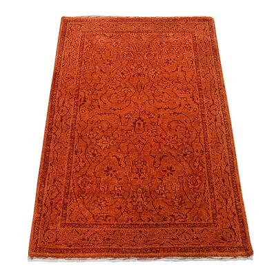 One-of-a-Kind Grayer Tone on Tone Oriental Hand-Knotted Silk Area Rug