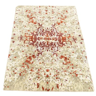 One-of-a-Kind Hedgepeth Abstract Hi-Lo Hand-Knotted Silk Area Rug