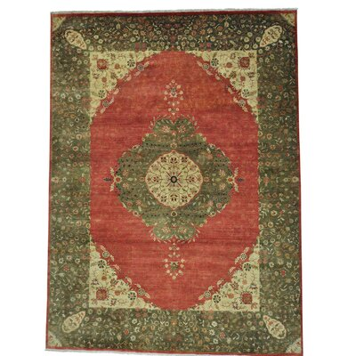 One-of-a-Kind Saltzman 300 KPSI Vegetable Dyes Oriental Hand-Knotted Silk Area Rug