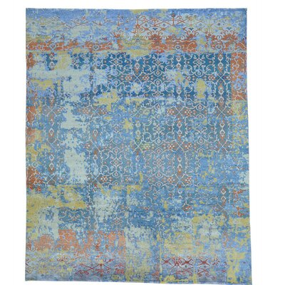 One-of-a-Kind Maulik Broken Oidized Oriental Hand-Knotted Silk Area Rug