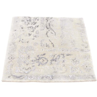 One-of-a-Kind Vandeusen Broken Hand-Knotted Silk Area Rug