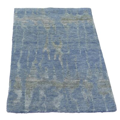 One-of-a-Kind Helmuth Abstract Oriental Hand-Knotted Area Rug