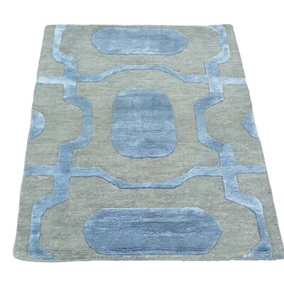 One-of-a-Kind Huggins Oriental Sample Hand-Knotted Silk Area Rug