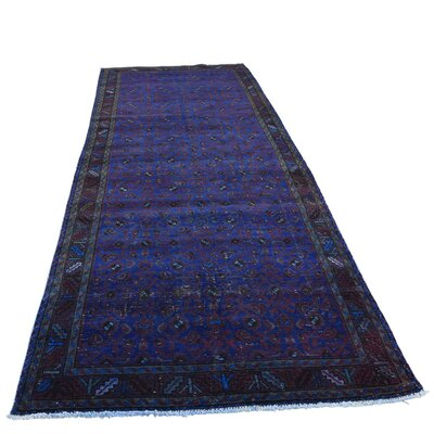 One-of-a-Kind Govan Vintage Overdyed Hamadan Hand-Knotted Area Rug